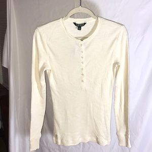 💛 Cute Ralph Lauren Long Sleeved Buttoned Top